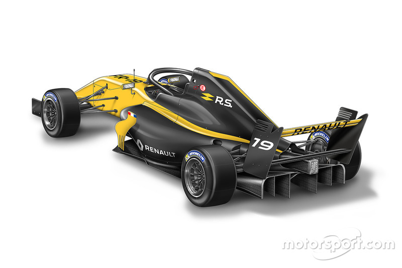La monoplace de Formule Renault Eurocup 2019
