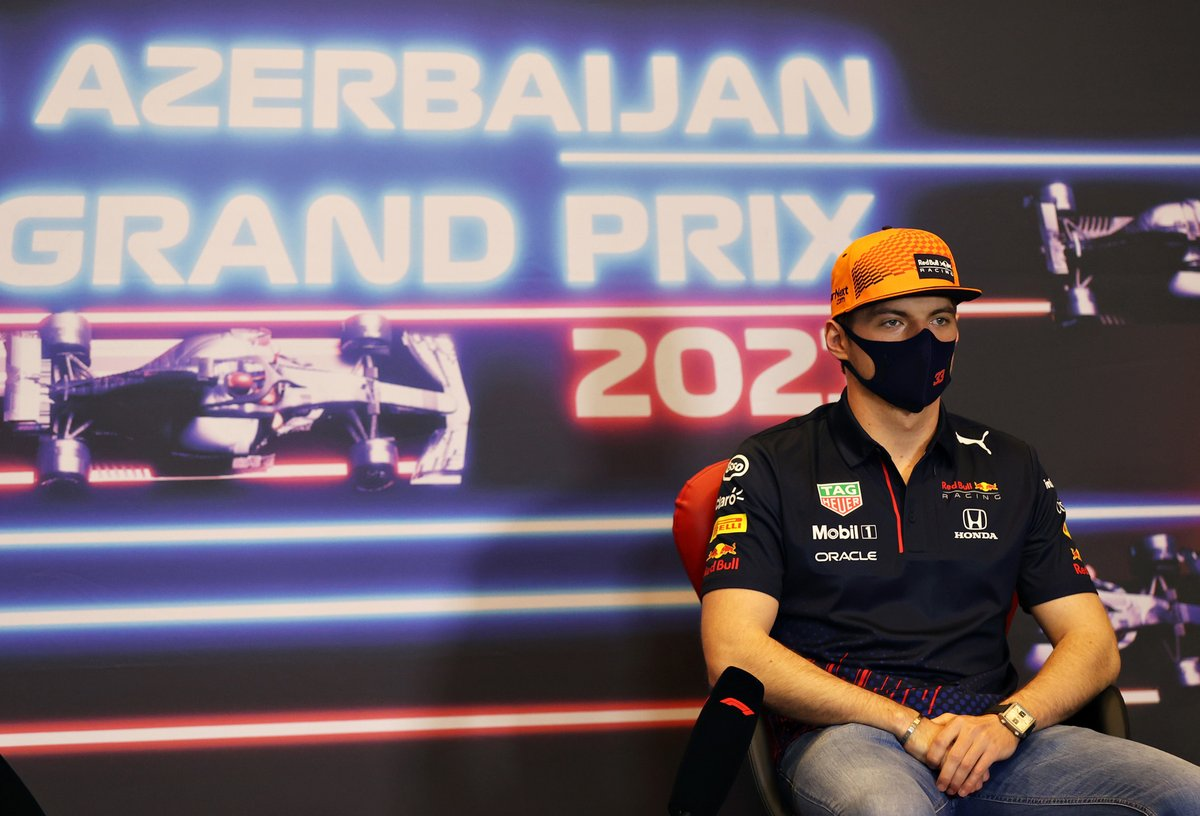 Max Verstappen, Red Bull Racing at press conference