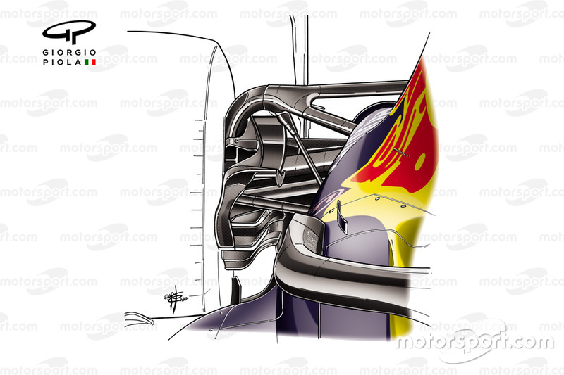Red Bull Racing RB16 rear suspension