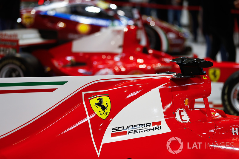Ferrari SF70H on the Ferrari Feature stand