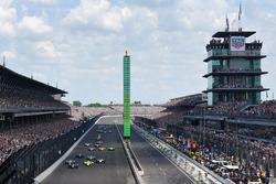 Départ : Ed Carpenter, Ed Carpenter Racing Chevrolet mène