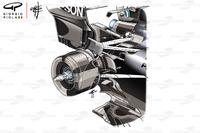 Задня підвіска Mercedes AMG F1 W09