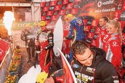 Podium: Race winners Chaz Mostert, Steven Owen, Rod Nash Racing Ford