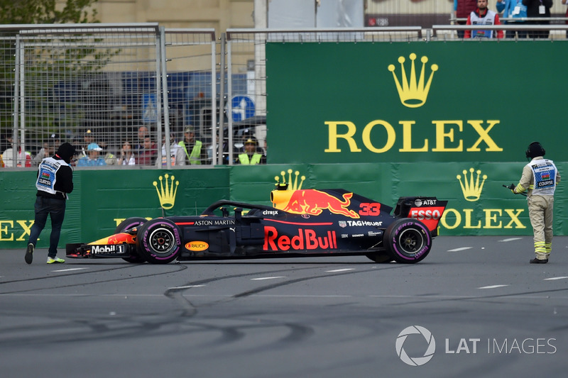 El auto de Max Verstappen, Red Bull Racing RB14