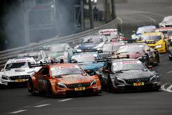 Start action, Lucas Auer, Mercedes-AMG Team HWA, Mercedes-AMG C63 DTM, Daniel Juncadella, Mercedes-AMG Team HWA, Mercedes-AMG C63 DTM