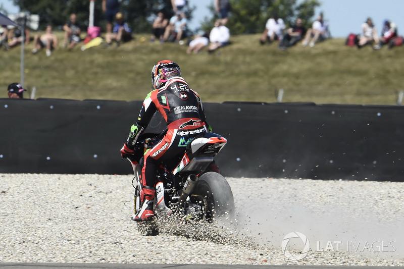 Stefano Manzi, Forward Racing runs wide