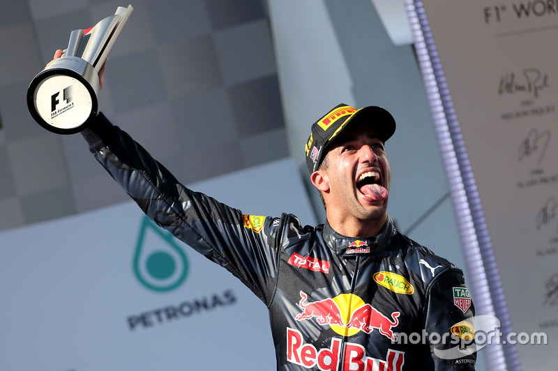 Podium: Sieger Daniel Ricciardo, Red Bull Racing