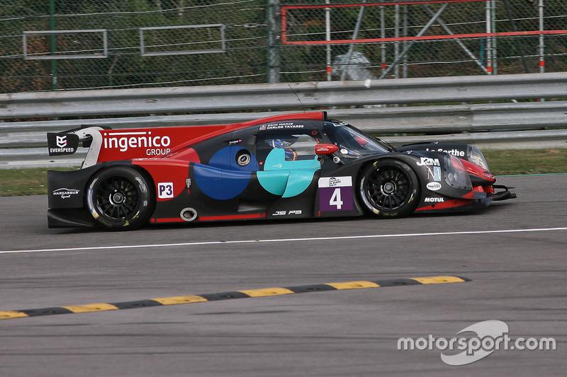 Notausganf für #4 Oak Racing, Ligier JS P3-Nissan: Carlos Tavares, Erik Maris