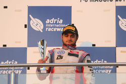Podium: second place Mahaveer Raghunathan, PS Racing