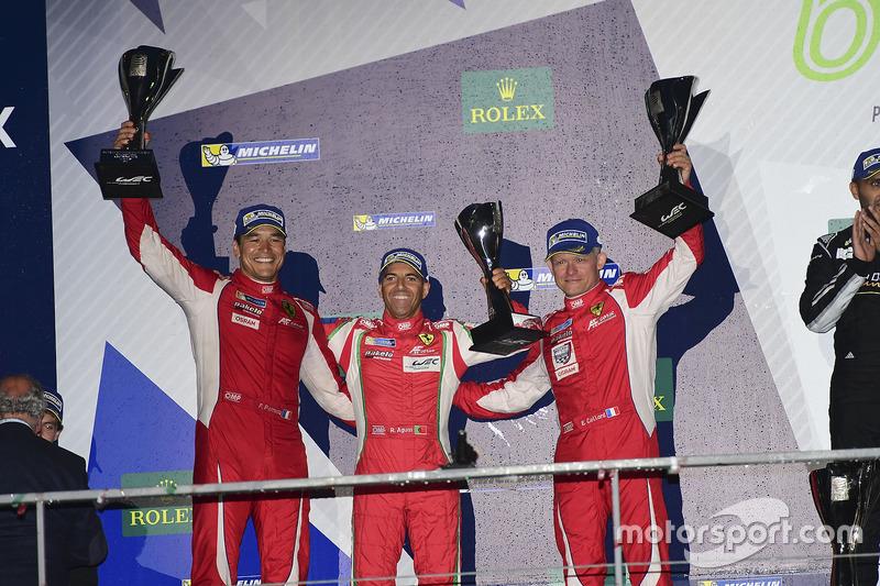 LM GTE Am second place Francois Perrodo, Emmanuel Collard, Rui Aguas, AF Corse