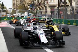Lance Stroll, Williams FW41 Mercedes, Nico Hulkenberg, Renault Sport F1 Team R.S. 18, Charles Leclerc, Sauber C37 Ferrari, Stoffel Vandoorne, McLaren MCL33 Renault