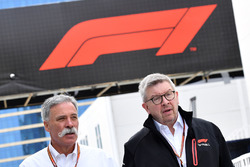 Chase Carey, Chief Executive Officer and Executive Chairman of the Formula One Group and Ross Brawn, Formula One Managing Director of Motorsports