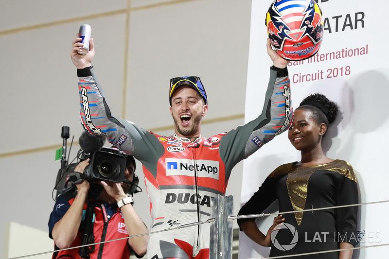 Podium : Andrea Dovizioso, Ducati Team, vainqueur