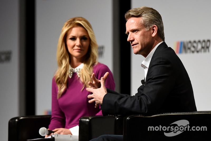 Steve Phelps, chief marketing officer for NASCAR, with Danielle Trotta