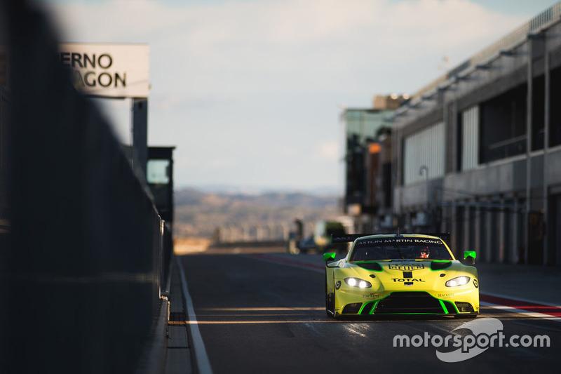Aston Martin Racing test