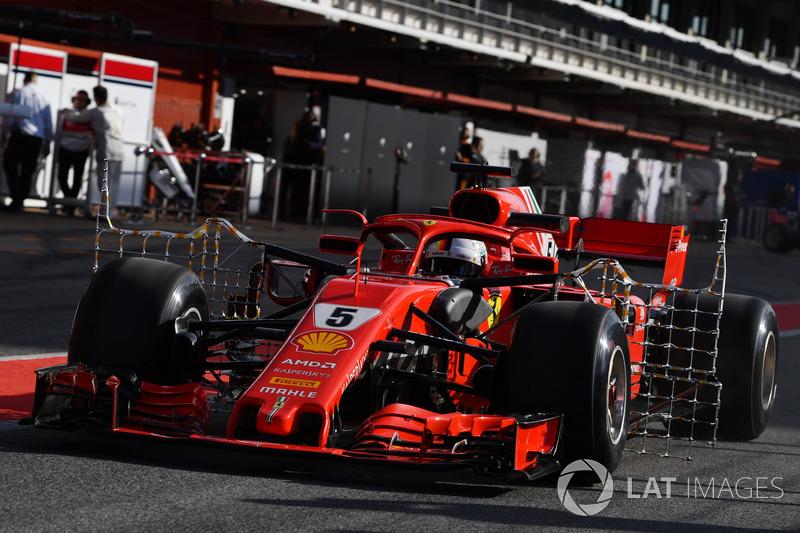 Sebastian Vettel, Ferrari SF71H aero sensörü