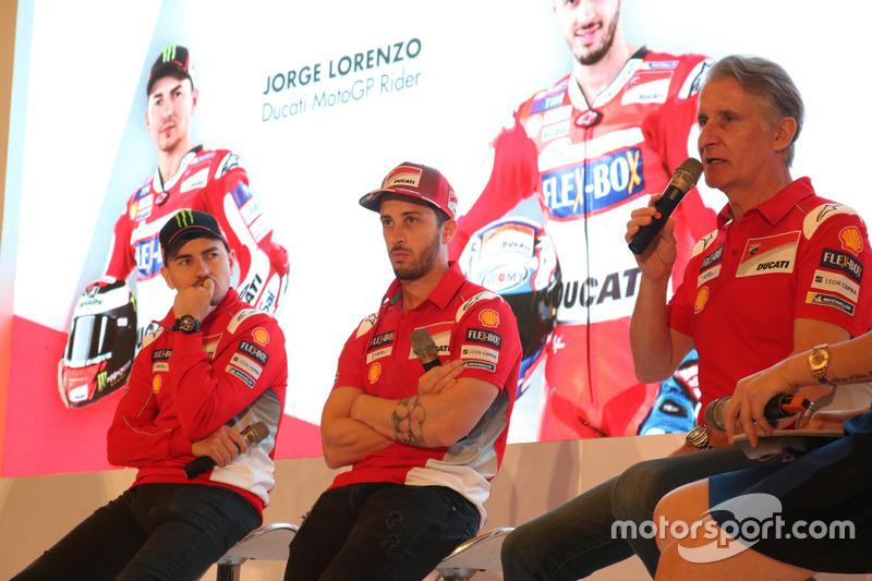 Jorge Lorenzo, Andrea Dovizioso dan Paolo Ciabatti, Ducati Team