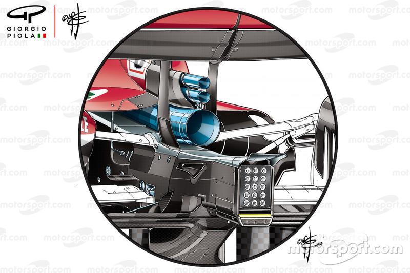 Nuevo escape del Ferrari SF71H para el GP de Alemania