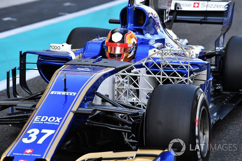 Charles Leclerc, Sauber C36 aero sensörü ile