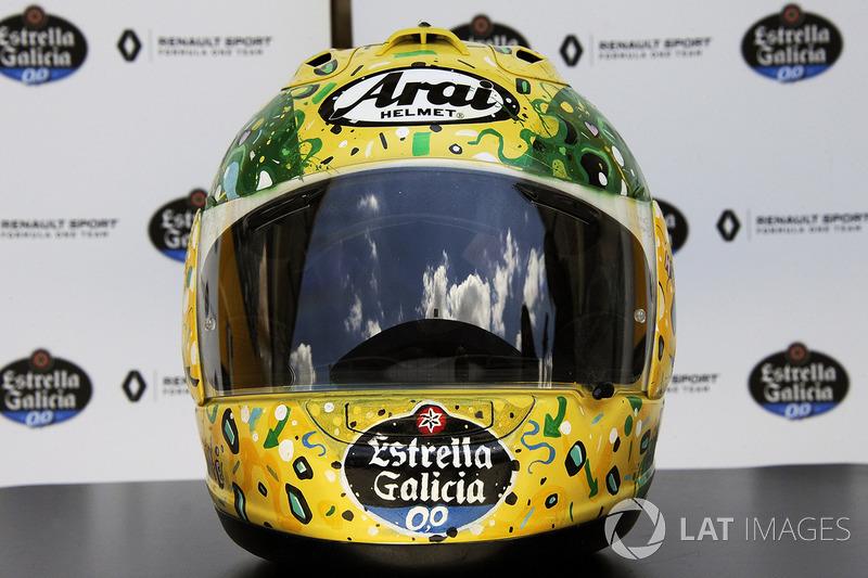Kask, Carlos Sainz Jr., Renault Sport F1 Team, tasarımcı: Shock Maravillha