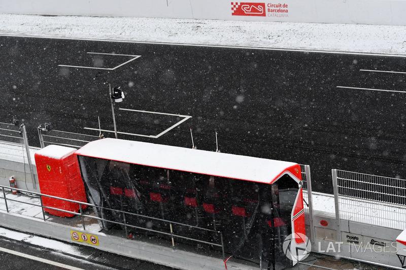Snow stops testing on day three
