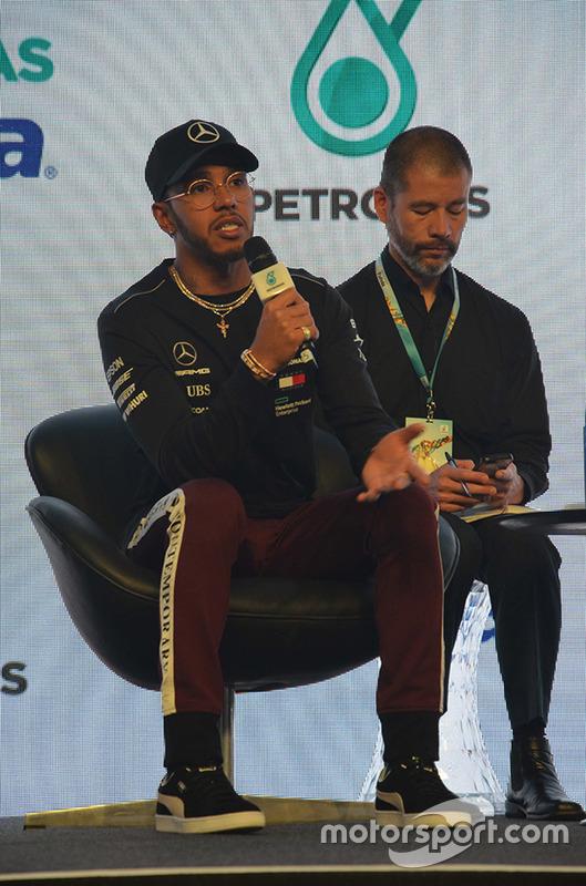 Lewis Hamilton en Sao Paulo
