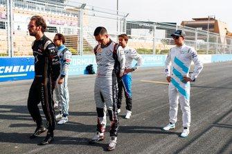 Jean-Eric Vergne, DS TECHEETAH, Felipe Massa, Venturi Formula E, Sébastien Buemi, Nissan e.Dams, Antonio Felix da Costa, BMW I Andretti Motorsports, Stoffel Vandoorne, HWA Racelab, pose for a photo on the grid.