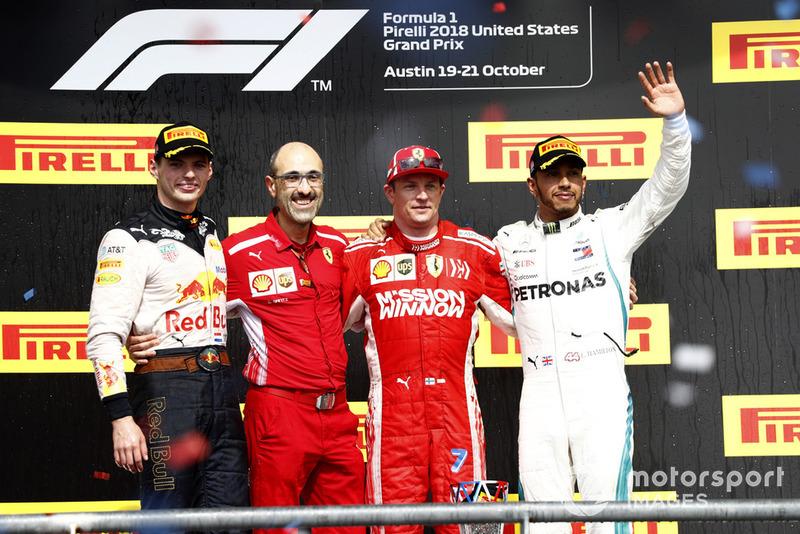 Max Verstappen, Red Bull Racing, Carlos Santi, Ferrari, Kimi Raikkonen, Ferrari, Lewis Hamilton, Mercedes AMG F1