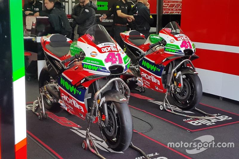 Motor van Aleix Espargaro, Aprilia Racing Team Gresini