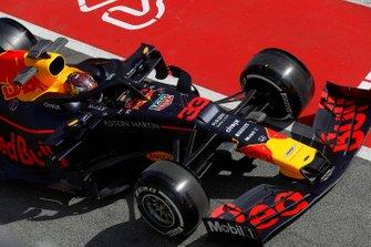 Max Verstappen, Red Bull Racing RB15 s'arrête dans la voie des stands