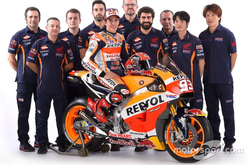 Marc Marquez, Repsol Honda Team mit seinem Team