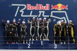 Podium Overall, Race winner #911 Herberth Motorsport Porsche 991 GT3 R: Daniel Allemann, Robert Renauer, Alfred Renauer