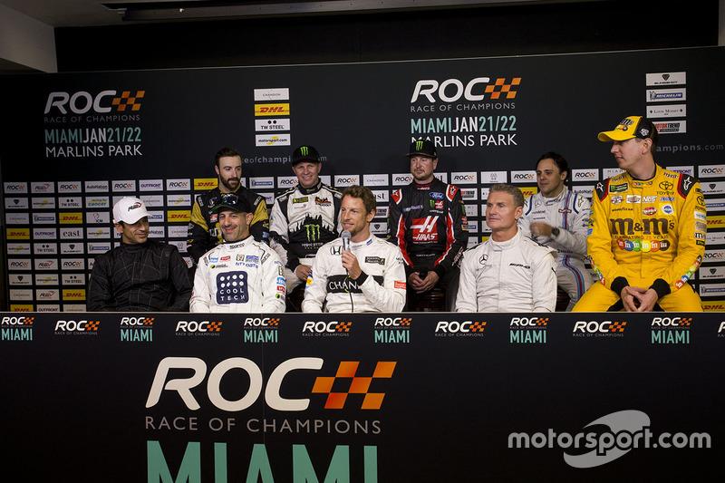 Helio Castroneves, Tony Kanaan, Jenson Button, David Coulthard, James Hinchcliffe, Petter Solberg, Kurt Busch, Felipe Massa