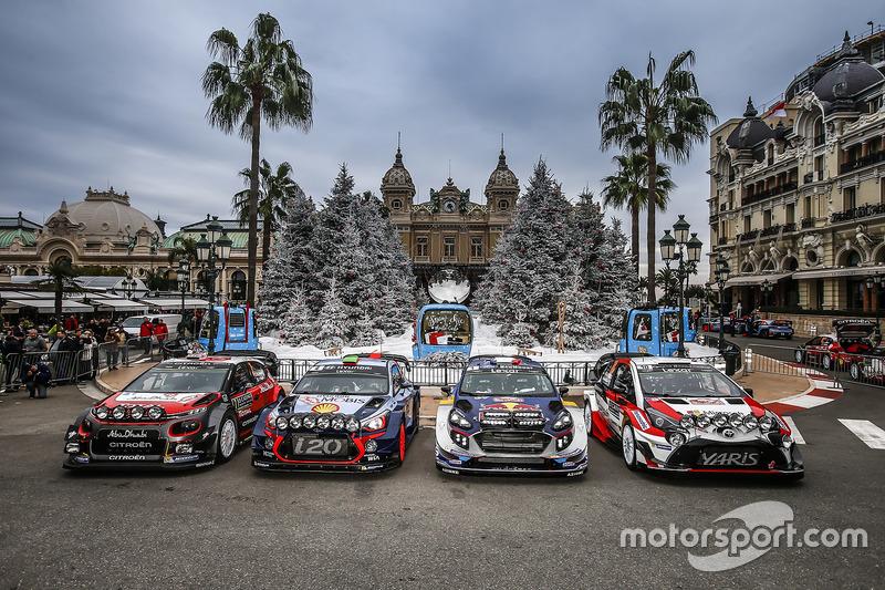 Kris Meeke, Paul Nagle, Citroën C3 WRC, Citroën World Rally Team; Hayden Paddon, John Kennard, Hyund