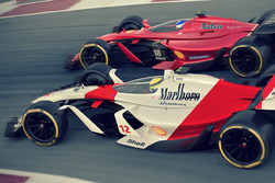 McLaren 2025 and Ferrari 2025 fantasy F1 concept