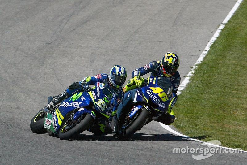 Valentino Rossi, Yamaha y Sete Gibernau, Suzuki