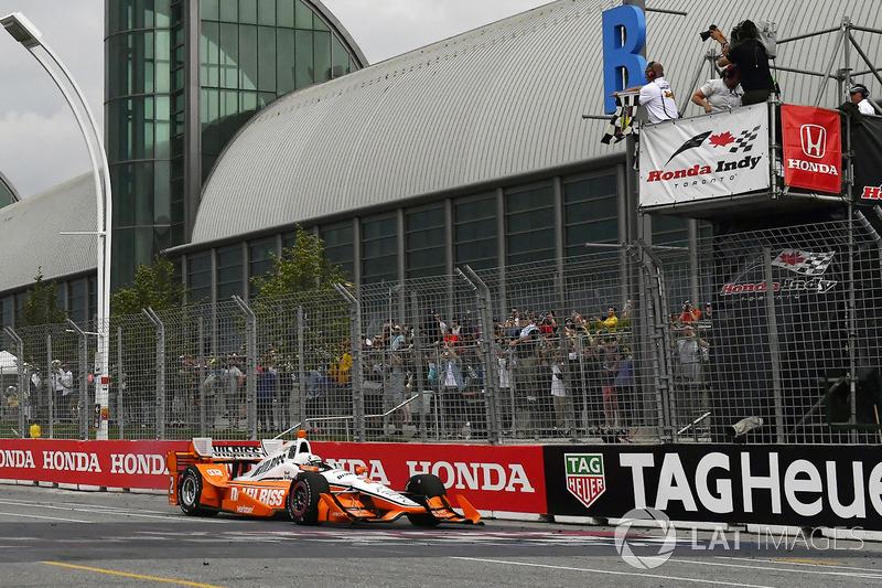 Sieg für Josef Newgarden, Team Penske Chevrolet