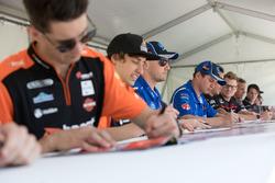 Tim Blanchard, Todd Hazelwood, Prodrive Racing Australia during the autograph session