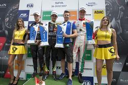 Podio: ganador de la carrera Lando Norris, Carlin, Dallara F317 - Volkswagen, segundo lugar Nikita Mazepin, Hitech Grand Prix, Dallara F317 - Mercedes-Benz, tercer lugar  Maximilian Günther, Prema Powerteam, Dallara F317 - Mercedes-Benz