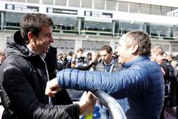 Toto Wolff, Mercedes-Sportchef, Gerhard Berger, ITR-Vorsitzender