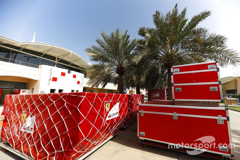 Ferrari frieght in the paddock
