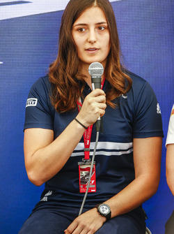 Tatiana Calderon, Sauber, at a Women in Motorsport Press Conference