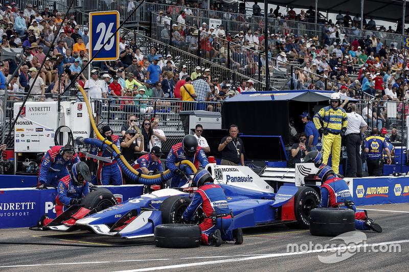 Takuma Sato, Andretti Autosport Honda pit stop