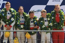 LMP2 podio: gandor Thomas Laurent, DC Racing, tercer lugar David Cheng, Alex Brundle, Tristan Gommendy, DC Racing