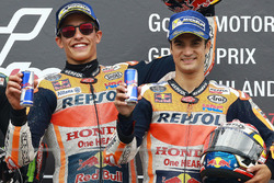 Podium: race winner Marc Marquez, Repsol Honda Team, third place Dani Pedrosa, Repsol Honda Team