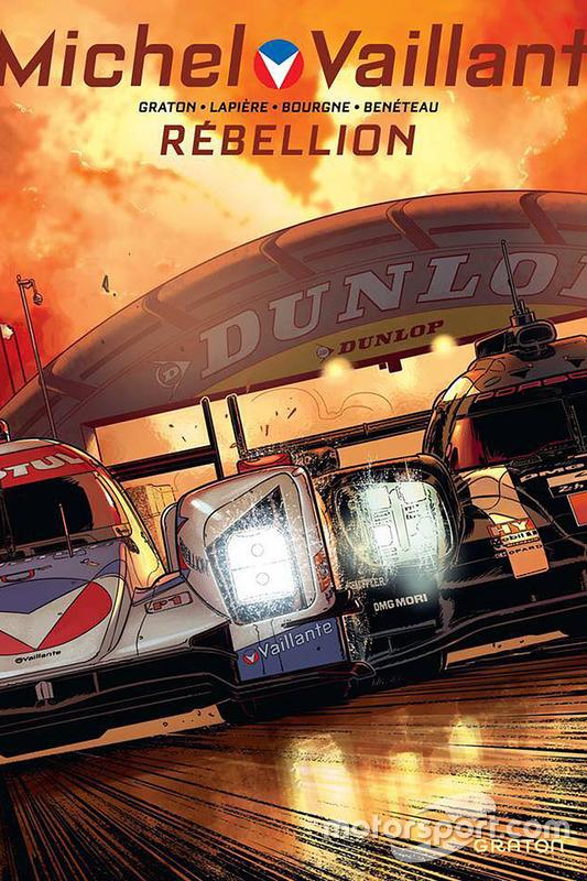 Nueva portada de cómic de Michel Vaillant Le Mans con Rebellion Racing y Porsche