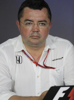 Eric Boullier, Racing Director, McLaren, in the Team Principals' Press Conference