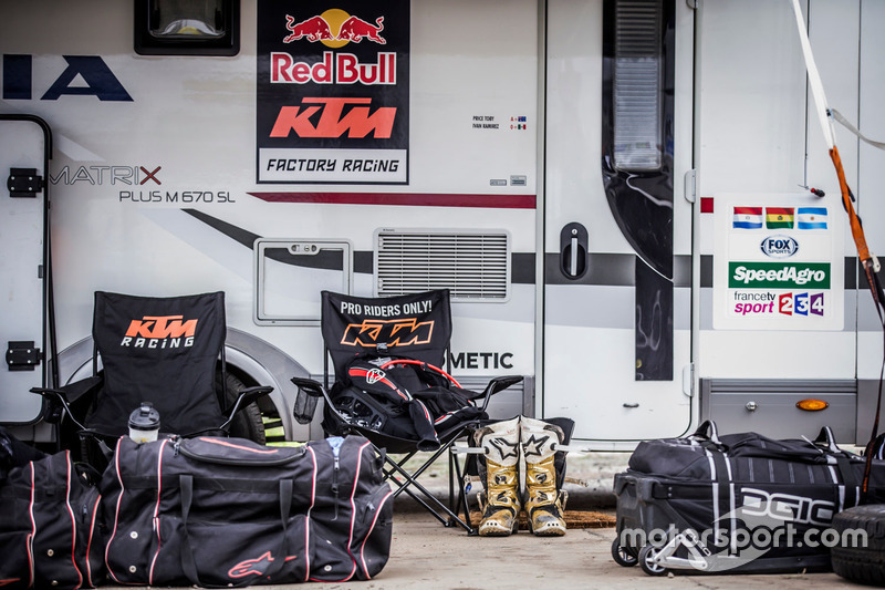 Team area Red Bull KTM Factory Racing