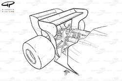Задние антикрылья Toleman TG184 1984 года