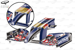 Toro Rosso STR9 new nose with revised upper surface and pylons (old design inset)